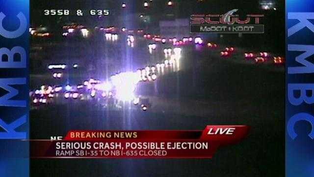 I-35, I-635 crash