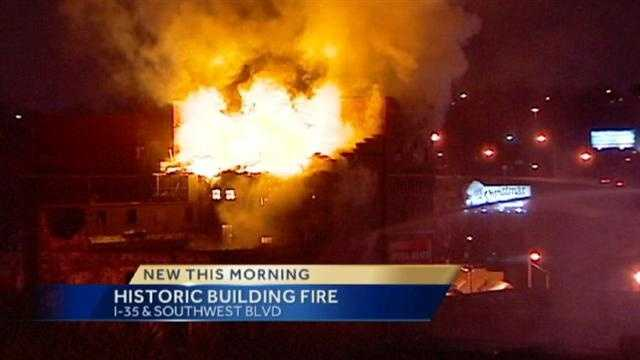 Old Imperial Brewery building catches fire
