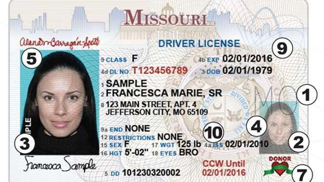 Missouri Driver License and Nondriver License