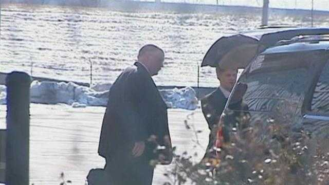 Former Philadelphia Eagles coach Andy Reid arrived in Kansas City Friday with Chiefs' owner Clark Hunt.