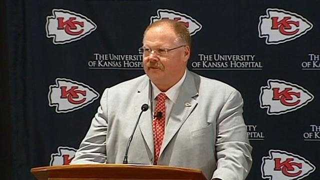 Andy Reid at podium