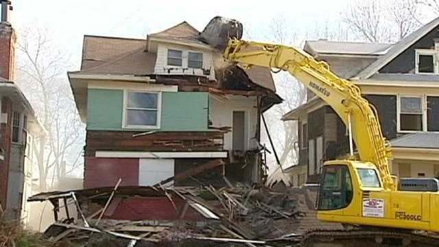 Image Homes razed for police station