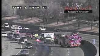 I-35, 75th Street wreck