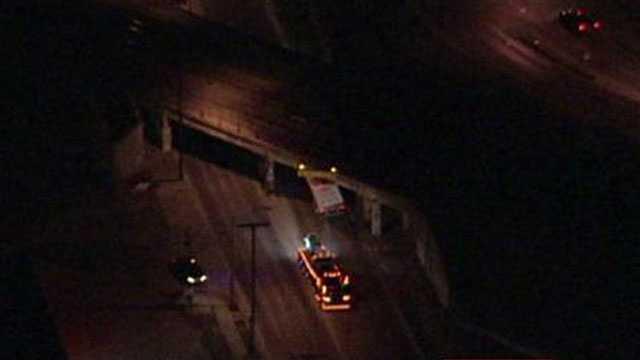 Truck stucks on Independence Avenue, Wilson Road