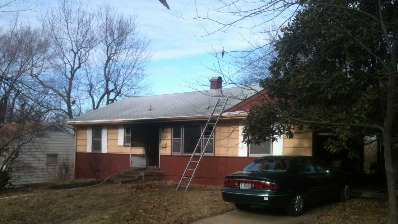 1 hurt in house fire on East 96th Terrace