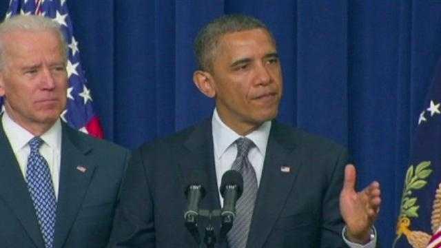 Image Obama gun announcement
