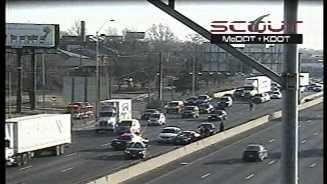 Westbound I-70, Brooklyn crash