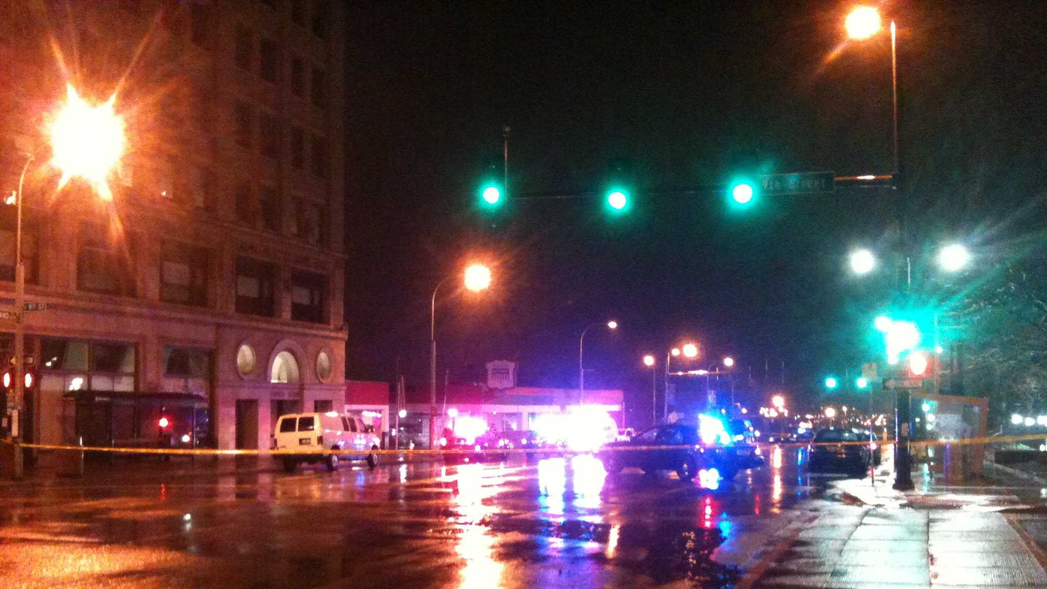Officer involved shooting at 8th and Grand
