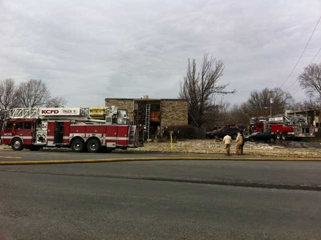 The fire was reported just before noon on Thursday.