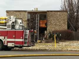 The fire happened in the 11300 block of Blue Ridge Boulevard.