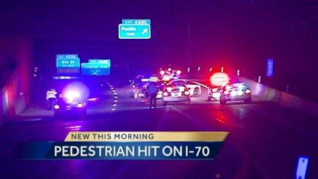 Pedestrian hit on I-70 in KCK