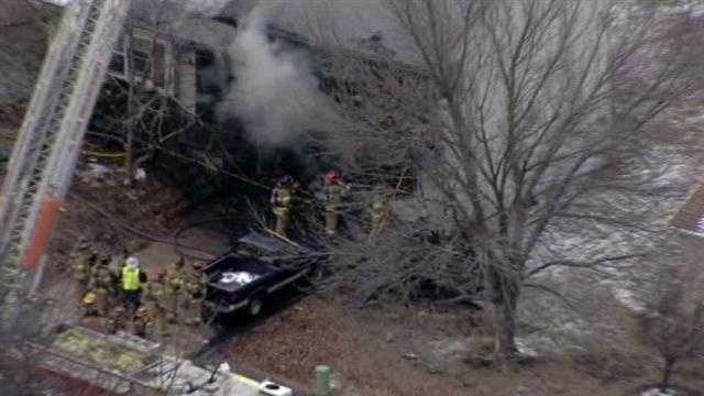 The fire was reported just before 4 p.m. on Friday afternoon.