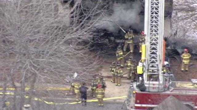 The fire was reported at a home at 1456 Martway Drive.