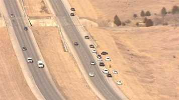 Several police vehicles were involved in the chase