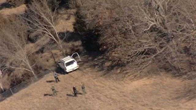 At least one person was in custody after the chase was over