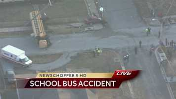 6 children and 1 adult were on this school bus when it was involved in a crash near 67th and Askew at about 4:30 p.m. Thursday.