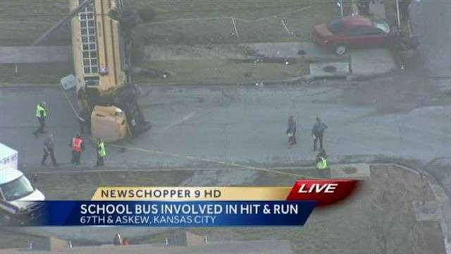 This was the view of the accident from NewsChopper 9 HD
