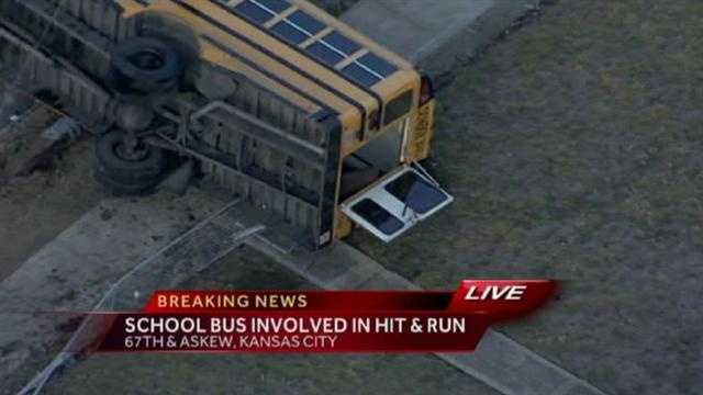 Some of the kids escaped from the back of the bus.