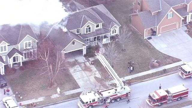 A home at 6390 North Nevada Avenue in Parkville caught fire on Friday afternoon. These are images from the fire.
