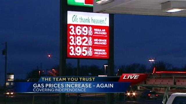 Monday morning gas prices