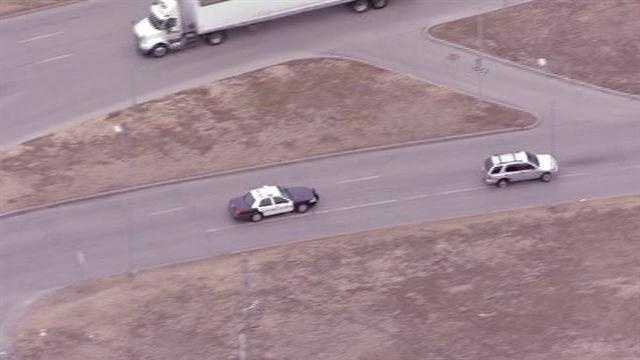 Police chase in Kansas City, Independence