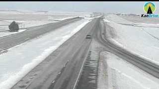 Interstate 70 near Oakley, Kan., Saturday morning