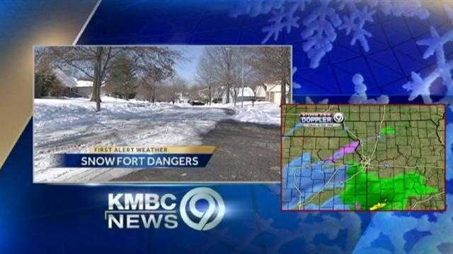 City asks parents to not let kids play in snow in streets