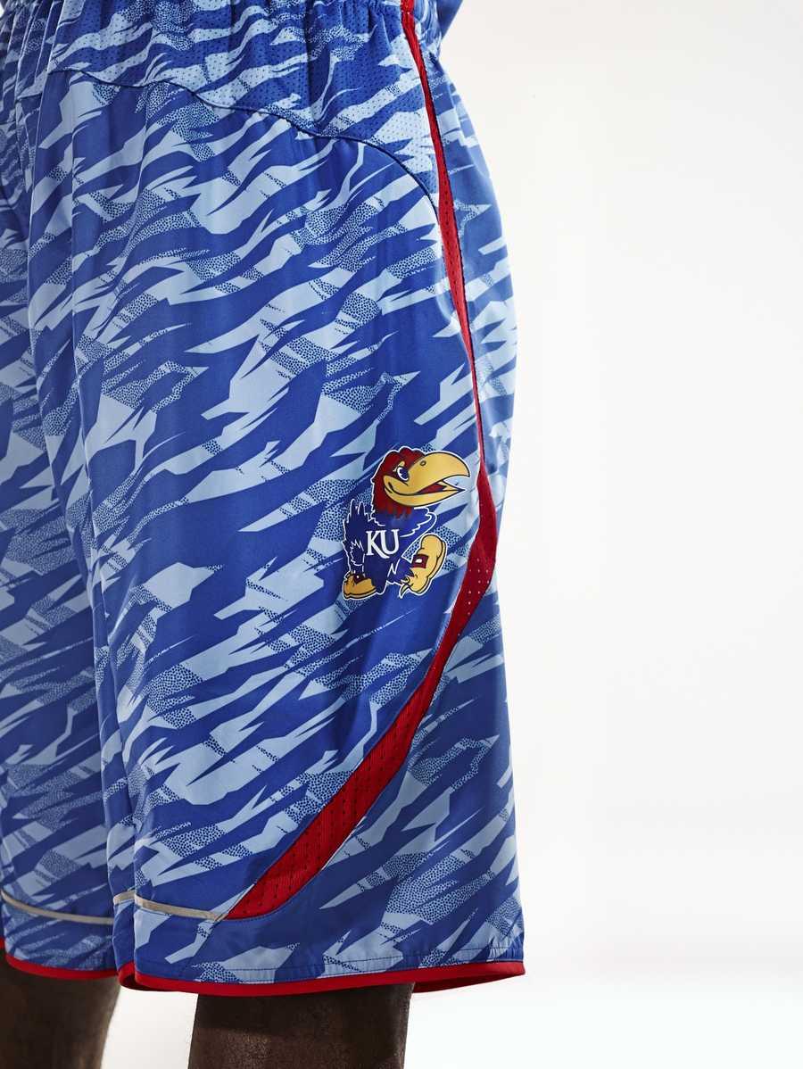 What the new Kansas post-season uniform shorts will look like.