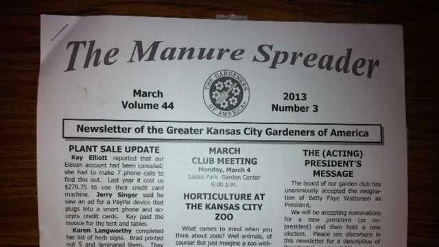Gardening newsletter