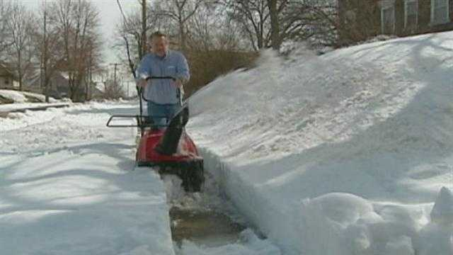 Kansas City begins to enforce its ordinance requiring homeowners with sidewalks to have last week's snowfall cleared off.