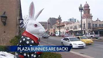 The Country Club Plaza Easter Bunnies returned to the Plaza on Friday.