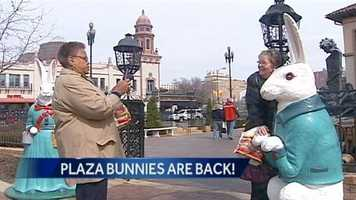 The bunnies have adorned the Plaza during the Easter season for more than 70 years.