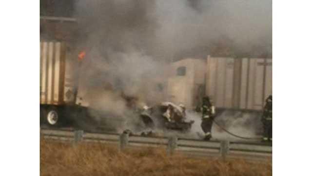 Highway 210, I-435 truck fire