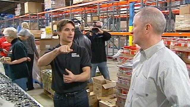 Jeff Gordon at Harvesters