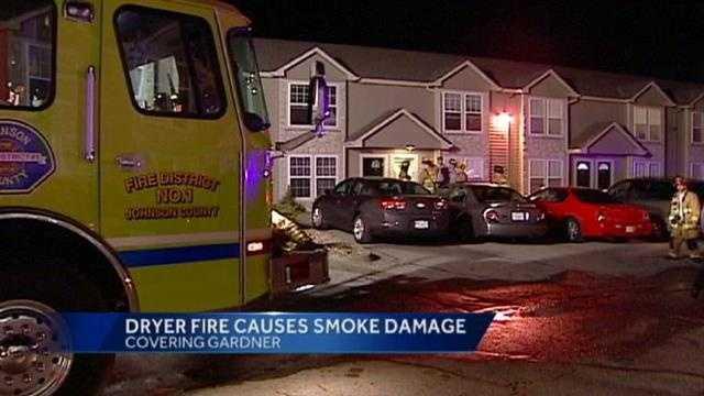 Gardner town home fire