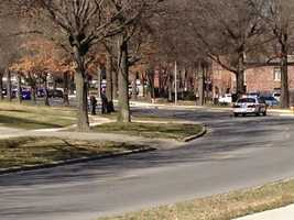 Prairie Village police surrounded an apartment complex at 83rd Street and Somerset Drive on Wednesday afternoon. Prairie Village police said there was a suicidal person inside one unit.
