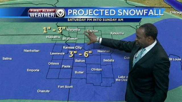 Weekend storm set to bring several inches of snow