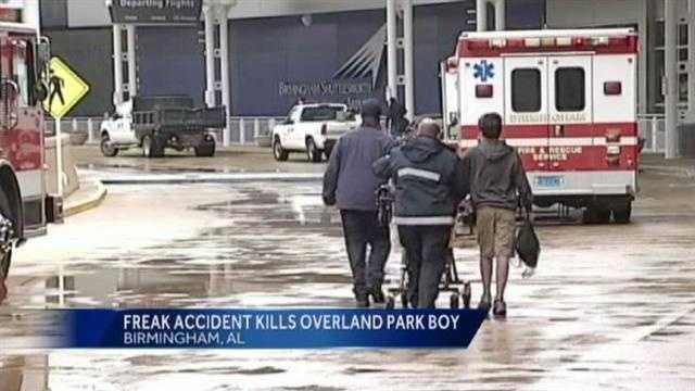 Overland Park boy dies in Birmingham airport accident