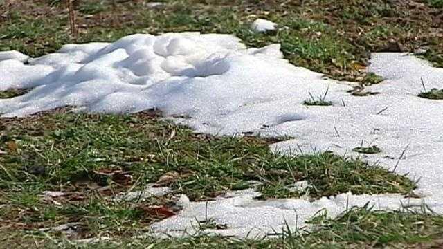 Image Snow on lawn