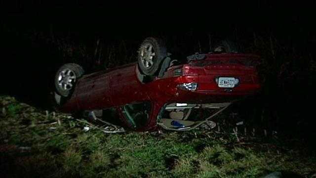 Rollover crash Northeast 40th, Kimball Avenue