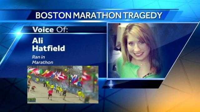 Runners from the Kansas City area describe the scene in Boston after two explosions went off at the end of the Boston Marathon.