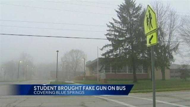 Image fake gun brought on school bus