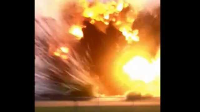 Image Texas explosion caught on tape