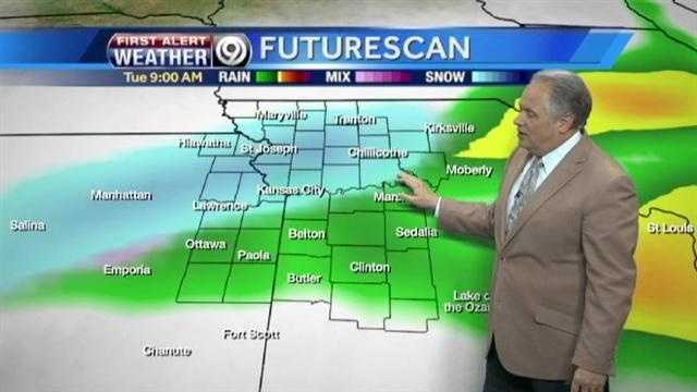 Some snow flakes possible tonight