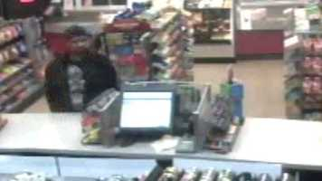 Police said the man used a yellow box cutter or a knife similar to a box cutter in the robbery.