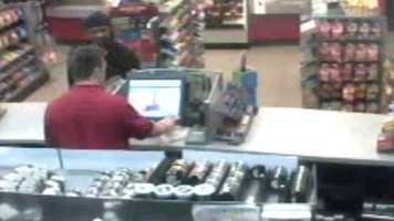 The man told the clerk he wanted cigarettes and money from the register.