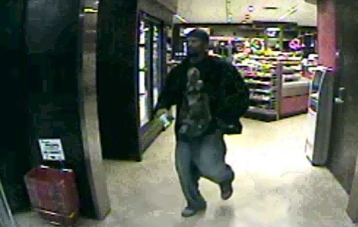 The man left out the south door of the QuikTrip store a few minutes later.