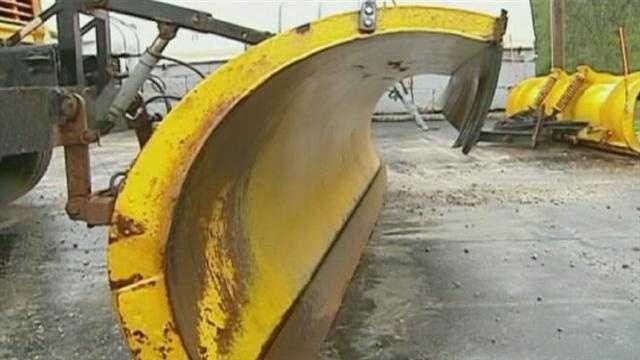 Road crews prepare plows