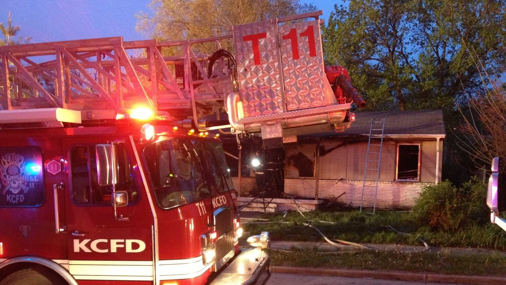 House fire in 2800 block of E. 54th St.