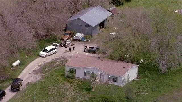 The Franklin County, Kan., Sheriff's Office said the bodies belong to a woman and two men.